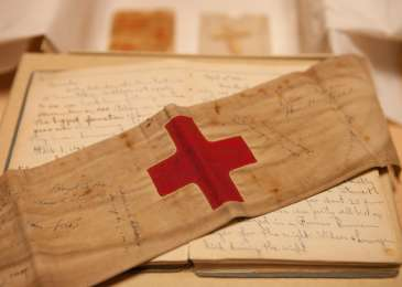 Artifacts donated to the Museum by Anthony Acevedo, a medic with the US Army's 70th Infantry Division during World War II.