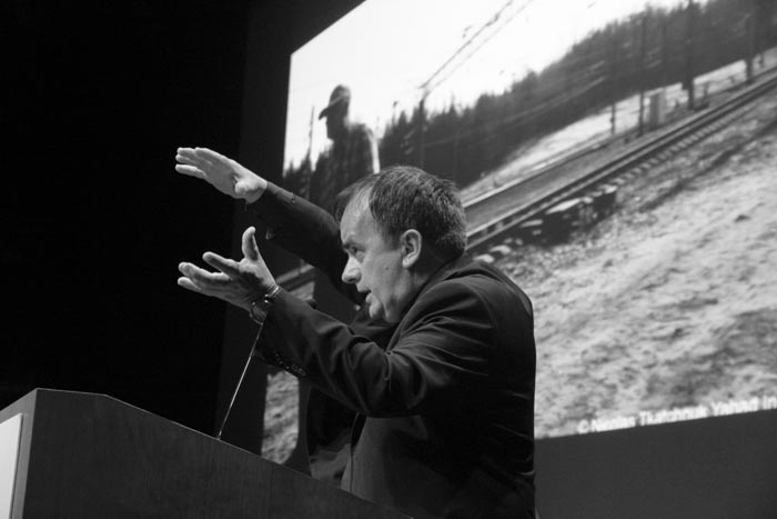 Father Patrick Desbois speaks about <i>The Holocaust By Bullets: A Priest&#8217;s Journey to Uncover the Truth Behind the Murder of 1.5 Million Jews</i>. Rochester, September, 2010.