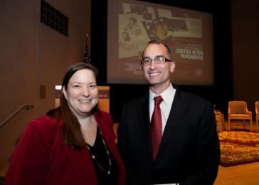 Museum staffers Christine Brown and Andres Abril. <i>United States Holocaust Memorial Museum</i>