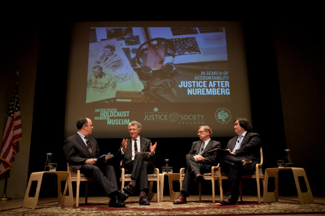 The panelists discuss holding perpetrators of genocide accountable for their crimes. <i>United States Holocaust Memorial Museum</i>