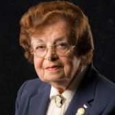 Manya Friedman, currently a volunteer at the United States Holocaust Memorial Museum and an active member of the Museum's speakers bureau. Courtesy of Manya Friedman.