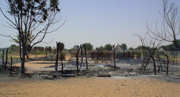 The destroyed village of Alliet in Darfur, Sudan. October 23 2004. <i></i>