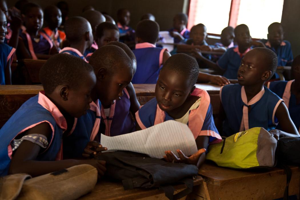 A Catholic primary school with 1,000 students, Usratuna Basic Education School is known as one of the best primary schools in Juba, South Sudan. September 28, 2010