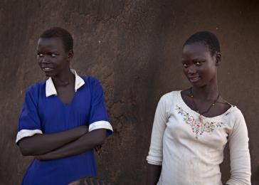 Neighbors of Sunday&#8217;s in their village outside of Juba, South Sudan. <i>US Holocaust Memorial Museum/Lucian Perkins</i>
