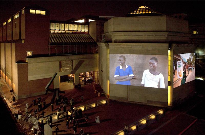 In a special nighttime exhibition over three evenings in November, the US Holocaust Memorial Museum projected images from South Sudan onto its exterior walls. <i>US Holocaust Memorial Museum </i>