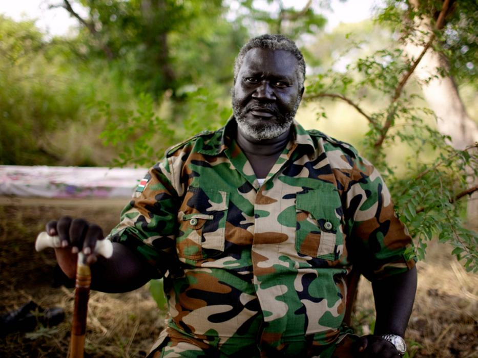 Lt. Col. Malak Agar, the head of SPLA-N forces in Blue Nile State, poses for a portrait at his remote hideout. <i>Pete Muller for US Holocaust Memorial Museum</i>