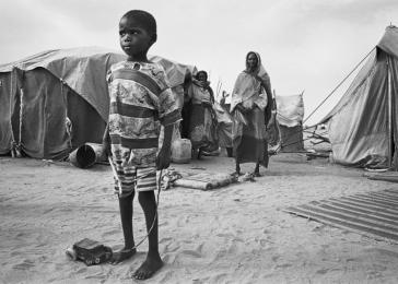 Michael Ronnen Safdie, after visiting the Chad/Sudan border, said, &#8220;The Bahai refugee camp is all about those who survived the killings, the &#8216;lucky&#8217; ... but what does the future hold for them?&#8221; <i> Michal Ronnen Safdie for US Holocaust Memorial Museum </i>
