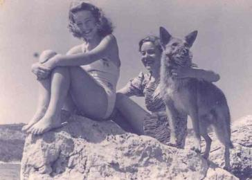 Mara Ginic and mother Johanna Ctvrtnik on the island of Hvar, Croatia, May 1941.