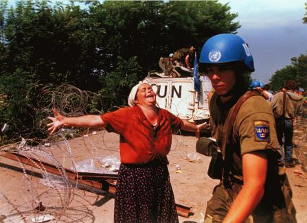 Woman with UN Soldier in Bosnia