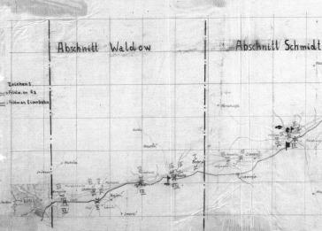 Wehrmacht route sketch which includes Krupki, 1941. RH 26-286-3.
