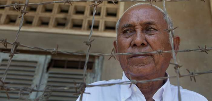 Chum Mey is one of the few survivors of the notorious Tuol Sleng prison in Phnom Penh, Cambodia, where 14,000–20,000 people died at the hands of the brutal Khmer Rouge regime between 1975 and 1979. October 2012.