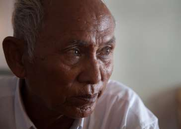 Chum Mey survived for two years in the Tuol Sleng prison, known as S-21, because of his skills at repairing machinery, but he never knew at the time if he would live another day. It is believed that at least 14,000 people died in Tuol Sleng, the most notorious of the approximately 196 Khmer Rouge prisons. Mey was one of the few prisoners to survive. October 2012.
