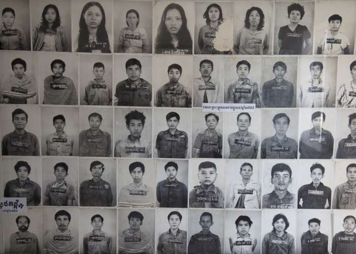 Tuol Sleng in Phnom Penh, known as S-21, was the most notorious of the approximately 196 Khmer Rouge prisons. It is believed that at least 14,000 people died there. The Khmer Rouge kept meticulous records of all the prisoners and photographed each one. October 2012.