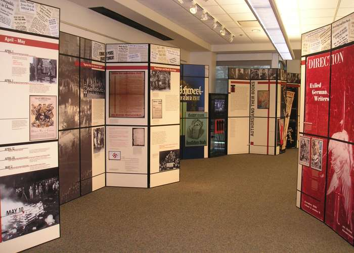 Exhibition installed at the Indian Trails Public Library District in Wheeling, Illinois.