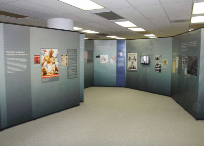 Exhibition installed at the Houston Academy of Medicine–Texas Medical Center Library.