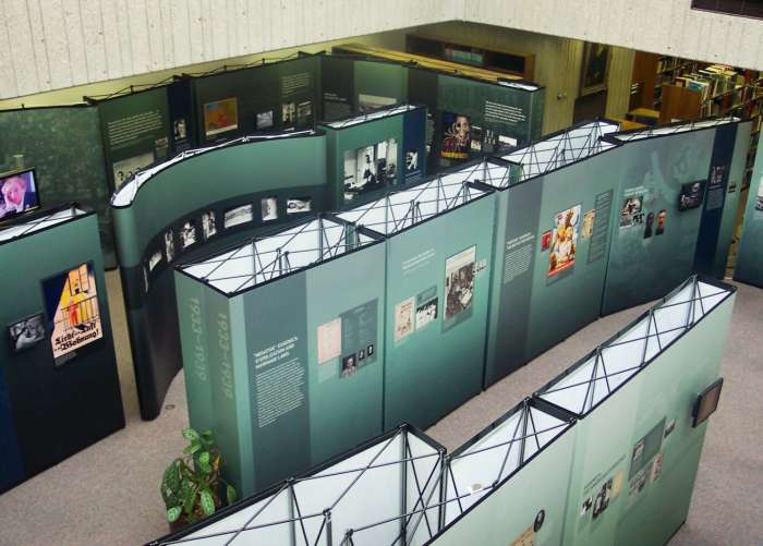 Exhibition installed at the University of Louisville's Kornhauser Health Sciences Library in Kentucky.