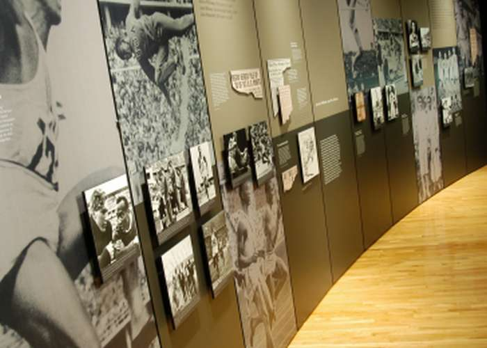 Exhibition installed at the Naismith Memorial Basketball Hall of Fame in Springfield, Massachusetts.