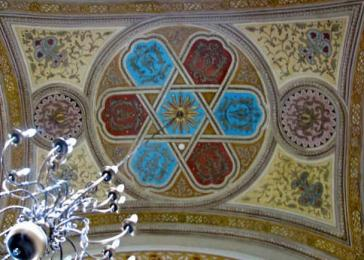 Ceiling of the synagogue in Mad, 2011.