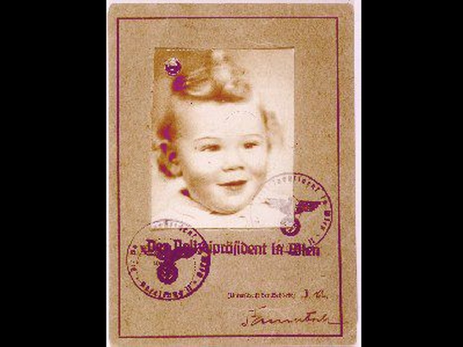 Austrian child's passport issued in December 1938 in preparation for his family's emigration to the United States. The family perished while awaiting their quota numbers.
