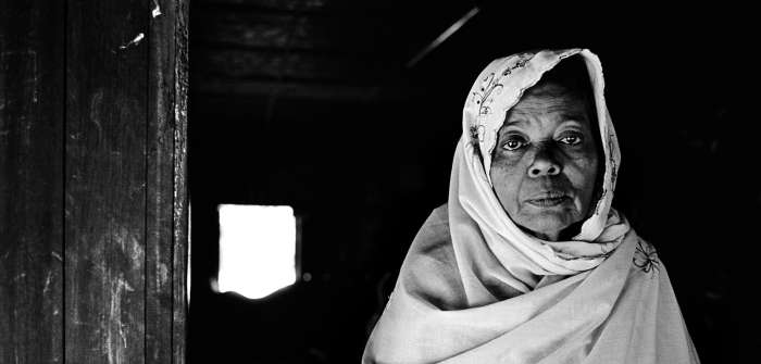 Ayessa, 55 years old, fled her home in Sittwe, in western Burma, for an internally displaced persons camp after her husband, brother, and two sons were killed in anti-Rohingya violence in 2012.