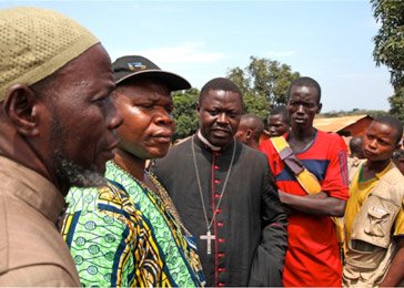 Interfaith efforts by religious leaders attempt to temper the violence in CAR.—IRIN/Hannah McNeish