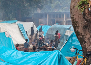 Over 36,000 displaced persons have taken refuge in the Catholic mission in Bossangoa.
