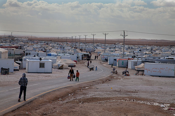 The Zaatari refugee camp houses more than 100,000 people displaced by the violence in Syria.