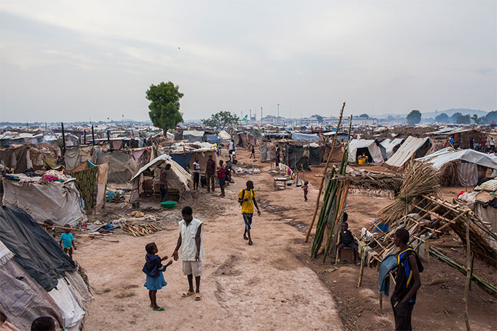 Those fleeing the violence seek refuge at the M'Poko internally displaced persons (IDP) camp at the international airport in Bangui.