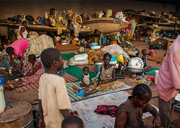 The UN estimates that more than 600,000 civilians have been internally displaced in CAR. March 2014.