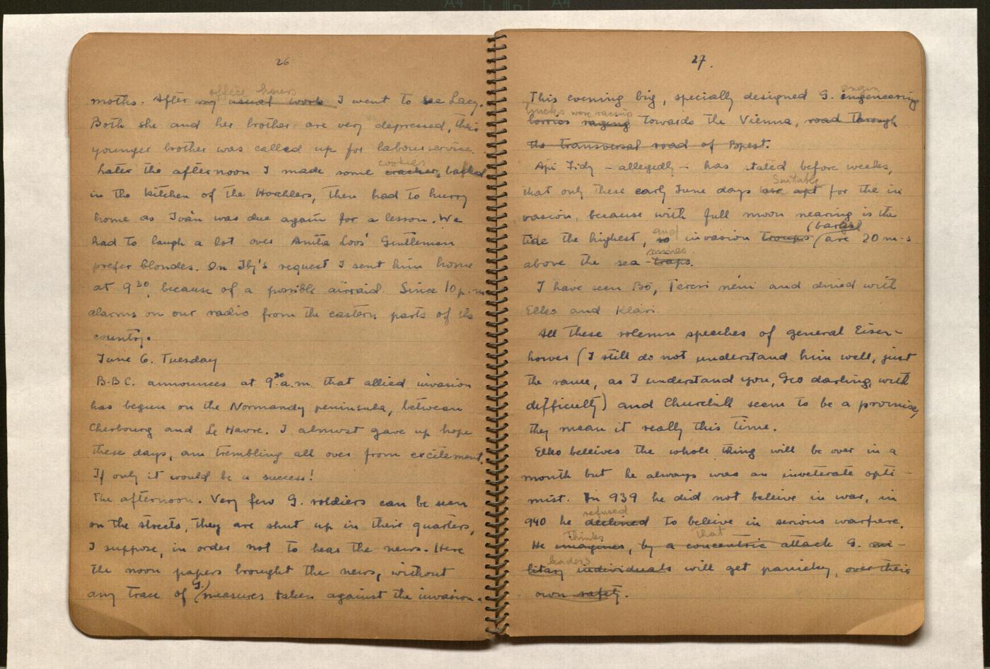 Maria Madi Diary — Media — United States Holocaust ...