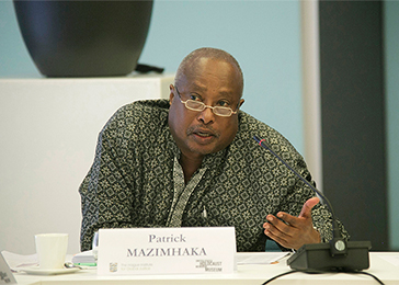 Patrick Mazimhaka was the vice-chairman of the Rwandan Patriotic Front (RPF) from 1993 to1998 and was the principal RPF negotiator in Arusha. He spoke at the conference about the internal politics transpiring in Rwanda leading up to the genocide.