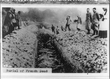 Burial of French military dead. Date unknown.