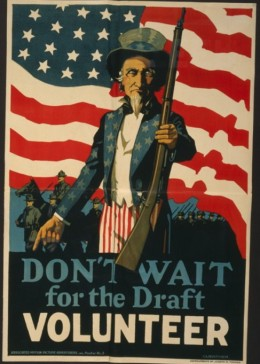 American military recruiting poster. 1917.