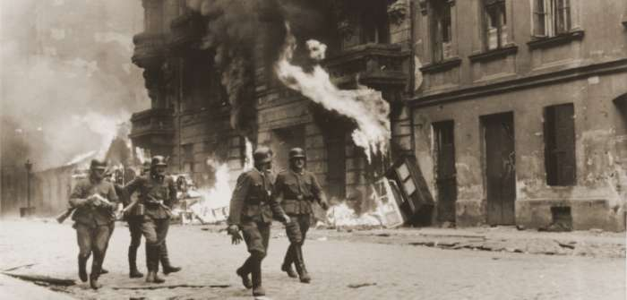 SS troops during the suppression of the Warsaw Ghetto Uprising