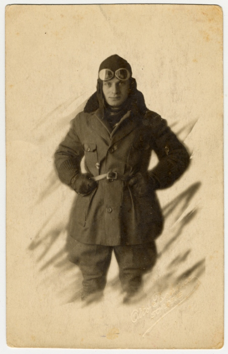 Portrait of Fritz Bujakowski, a German-Jewish aviator in World War I. In 1943, Fritz , his wife Else, and teenage son Walter were deported to the Auschwitz killing center and murdered.