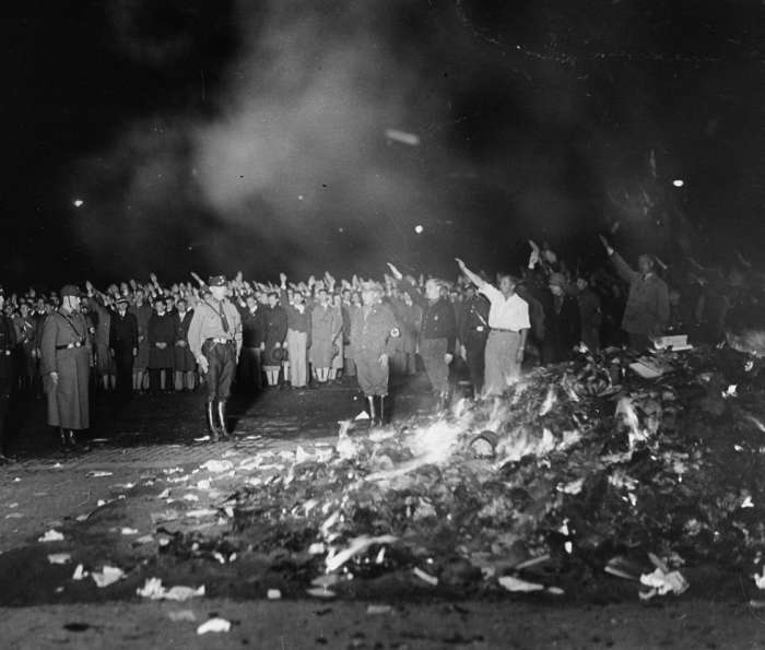 Book burning in Opera Square
