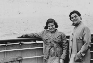 The Loewinsohn family on board the SS <i>St. Louis</i> after setting sail from Hamburg, Germany.