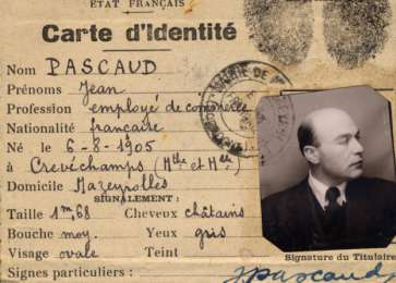 False papers issued to Frits Mendels under the name Jean Pascaud.