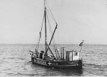 A boat used by Danish fishermen to transport Jews to safety in Sweden during the German occupation.