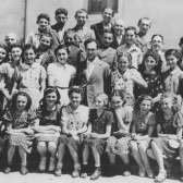Group portrait of Jewish high school students at the Hebrew gymnasium in Mukachevo, Ukraine 1939. USHMM #42559, courtesy of Trudy Kestenbaum