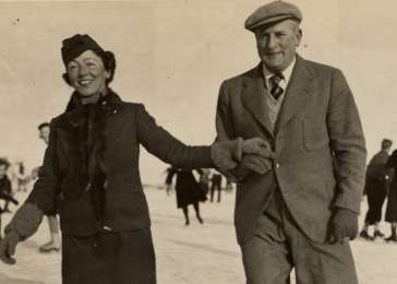 Kurt and Helene Liebenau go skating in Berlin in 1937.