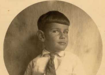 Portrait of five-year-old Gerald Liebenau.