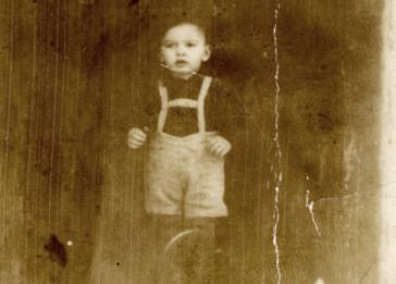 Portrait of Efraim Leibowitz, the younger brother of the donor (Helen Goldkind) who perished at Auschwitz.