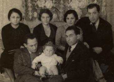 Group portrait of family and friends of the Litman family in prewar Krakow.