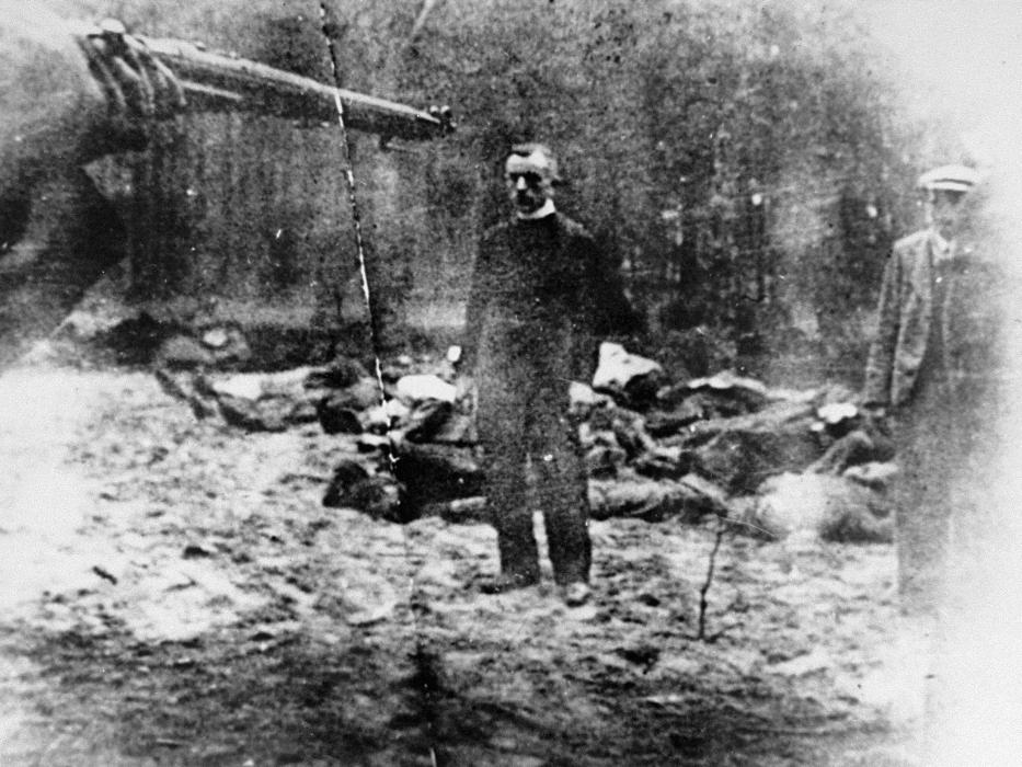 A Polish priest, Father Piotr Sosnowski, before his execution by German Security Police, near the city of Tuchola, October 27, 1939.