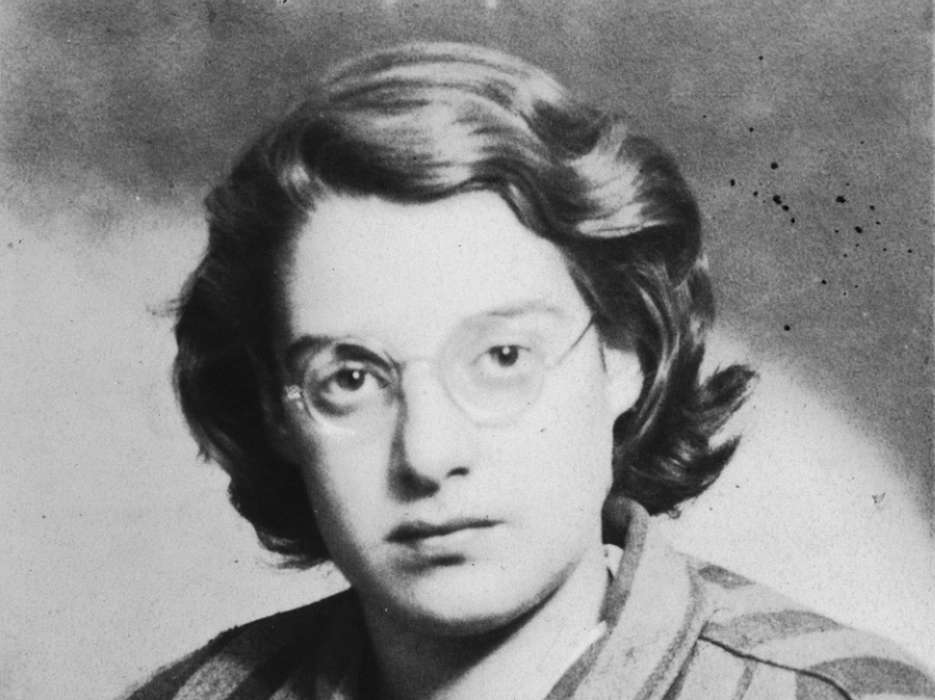 Portrait of Agnes Laszlo in her camp uniform taken shortly after liberation.