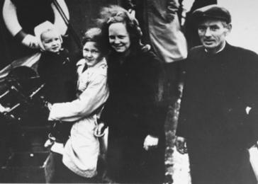 Jewish refugees are ferried out of Denmark aboard Danish fishing boats bound for Sweden. October 1, 1943.