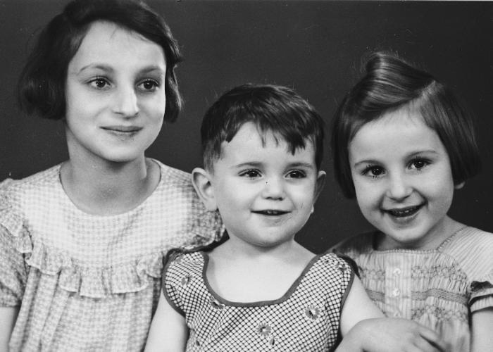 Inge, Gisela and their cousin Egon.