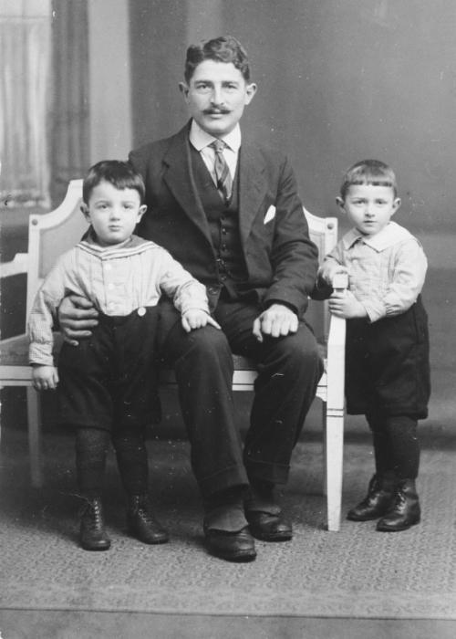 Gerd, his father and his brother.