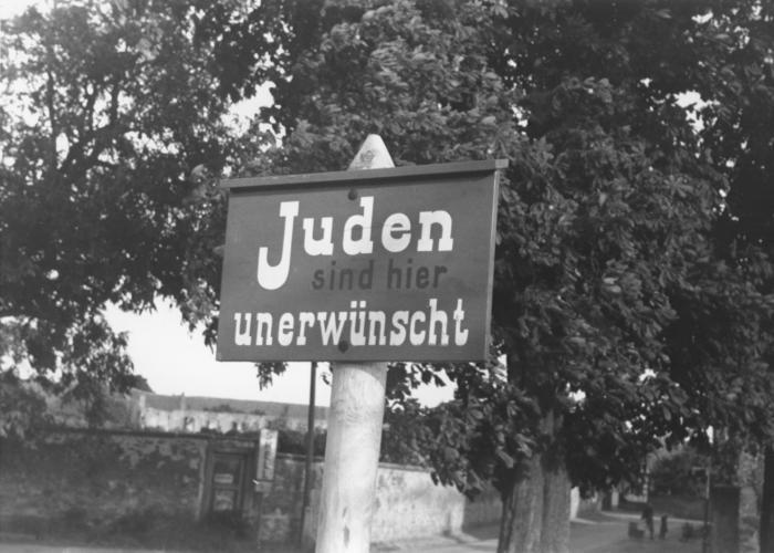 Anti-Jewish Sign